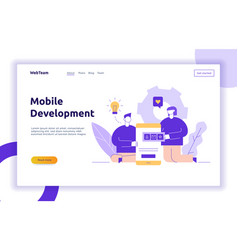 mobile application or website development vector image
