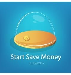 Money glass bowl vector image