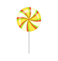 Multi-colored round lollipop vector