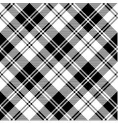 National tartan black white seamless pattern vector