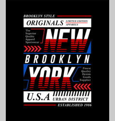 new york city slogan tee graphic typography vector image