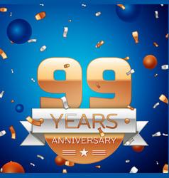 Ninety nine years anniversary celebration design vector