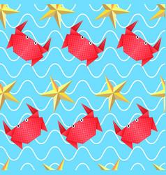 origami sea pattern vector image