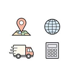 Parcel delivery service vector