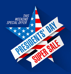 presidents day super sale banner design template vector image