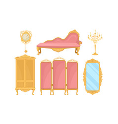 Princess furnishing objects for bedroom or living vector