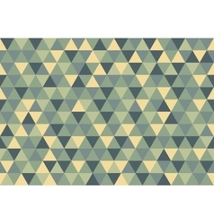 Retro triangle pattern early morning vector