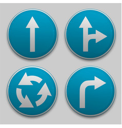 road sign with arrow vector image