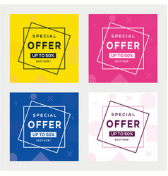 Sale banner template design big special offe vector