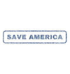 save america textile stamp vector image