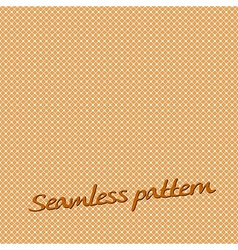 Seamless pattern lines orange with text vector
