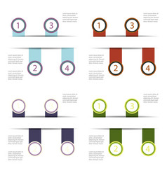 set of abstract paper infografics eps10 vector image