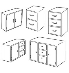Set of drawer vector