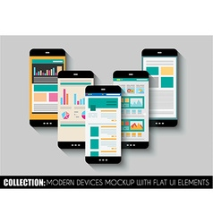Set of Touch Screens mockup vector