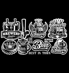 set patterns on theme beer and vector image