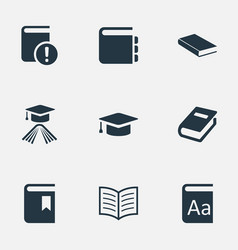 set simple knowledge icons vector image