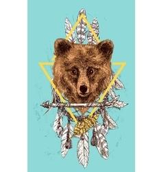 sketching bear vector image