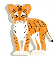small tiger vector image