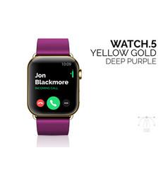 Smart watch with deep purple bracelet realistic vector