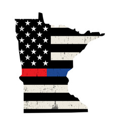 State minnesota police and firefighter support vector