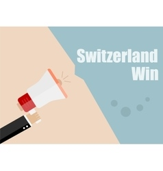 Switzerland win Flat design business vector image