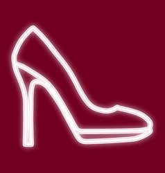 the image of women s shoes vector image