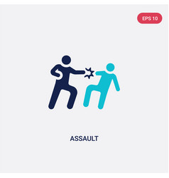 Two color assault icon from army and war concept vector