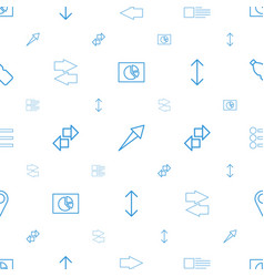 ui icons pattern seamless white background vector image