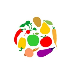 Vegetables logo vector image