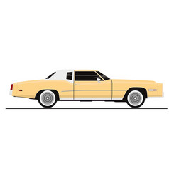 vintage coupe vector image