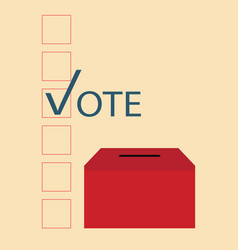 vote design with ballot boxes vector image