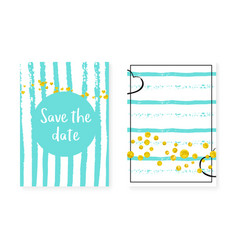 Wedding set with dots and sequins bridal shower vector