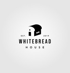 white bread house logo vintage bakery design vector image