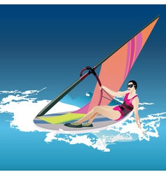 Windsurfer vector