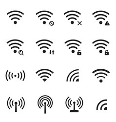 wireless network set communication and connection vector image