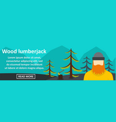 wood lumberjack banner horizontal concept vector image