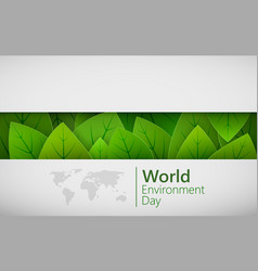 world environment day concept in paper cut green vector image