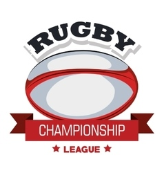 ball rugby championship league banner graphic vector image vector image