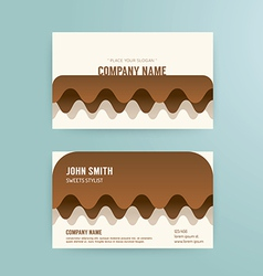 Business card template modern abstract cake vector image vector image