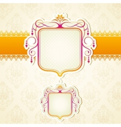 Lace Ribbon on Retro Background vector image vector image