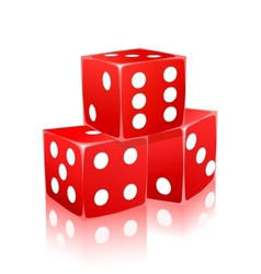 red dice with white dots in ctack vector image vector image