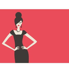 retro fashion model vector image vector image