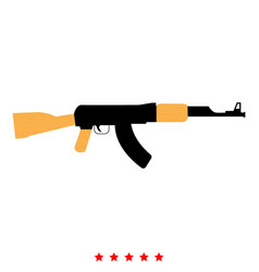 assault rifle icon flat style vector image vector image