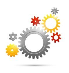 Cogwheel teamwork connection vector image vector image