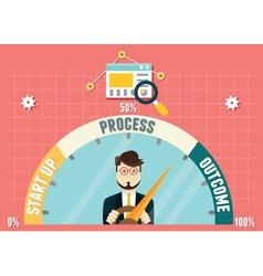 Dashboard of business development vector image vector image