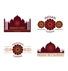 Indian food restaurant vector image vector image