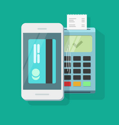 mobile payment processing wireless technology vector image