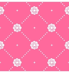 Pink pattern seamless in baroque style vector image
