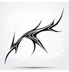 Sharp tribal tattoo vector image