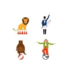 Circus flat icons set vector